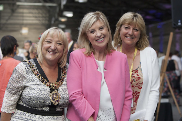 Lord Mayor of Manchester Councillor June Hitchen Lucy Meacock Director of Wild in Art Sally-Ann Wilkinson