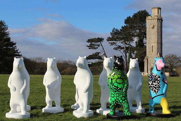 Bear sculptures at Wild Place Project