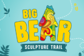 Big bear sculpture trail logo