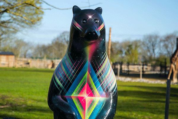 cosmic bear wild in art big bear sculpture trail