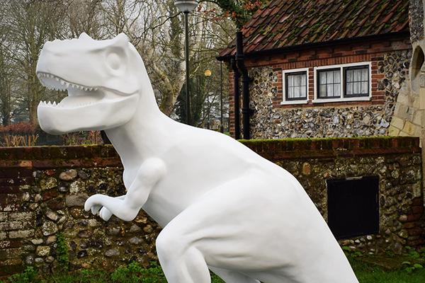 t rex sculpture
